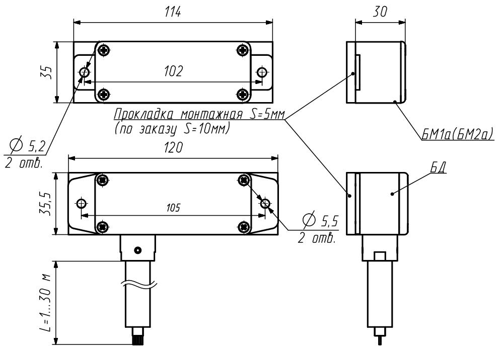 Извещатели охранные магнитоконтактные взрывозащищенные модели ЕхИО102-1В-Д